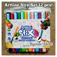 Artline Stix Brush Marker Set 12 New for Lettering Kaligrafi Menulis