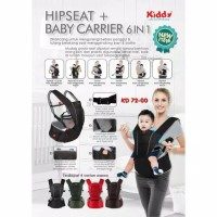 KIDDY Gendongan Hipseat + baby carrier 6in1 ( 7200 )