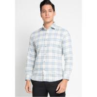 EDITION MEN ESL78 TEAL Kemeja Pria Long Sleeve Flannel Shirt