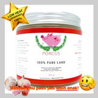 Porcus Aroma Lard 100% Murni Minyak / Lemak Babi Padat Bakmi Bawang