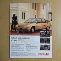 Poster Iklan mobil CITROEN BX Elegance majalah lama dokumentasi