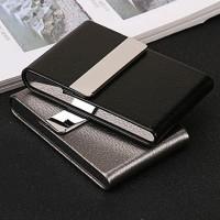 FOCUS Kotak Bungkus Rokok Elegan Leather Cigarette Case - B650925 - Bl