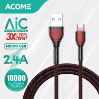 ACOME Kabel Data Micro USB. Android 100Cm Fast Charging 2.4A. ASM-010