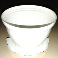 "Pot plastik ukuran 21"" plus tatakan (1paket)"
