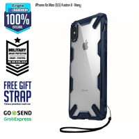 Casing Softcase Ringke iPhone Xs Max Fusion X Navy Anti Crack Military