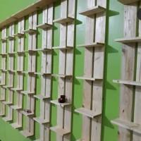 rak sepatu dinding/gantung kayu jati Belanda