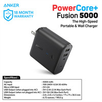 PowerBank Anker PowerCore Fushion 5000 mAh Black - A1621