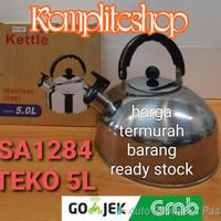 Stainless steel kettle 5 liter/teko stainlis 5L/whistling kettle/ceret
