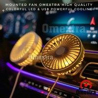 Kipas Angin USB LED Omextra Car Fan Kipas Angin Mobil Multifungsi 5V5W