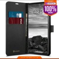 Spigen Leather Flip La Manon Wallet for Samsung Galaxy S10e - Black