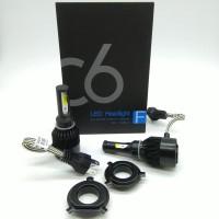 TG Lampu LED Mobil H4 Cob C6 BLACK Chips 36W 3800Lm Hi Lo