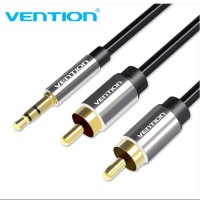Vention [BCF 1.5M 2M 3M ] Kabel Audio 3.5mm male To 2 RCA Male High