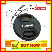 BY339 Lens Cap Tutup Penutup Lensa Kamera 49mm Logo Canon EF-M 15-45mm