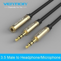 Vention [BBD] Kabel Aux Audio Splitter 3.5mm Female to 2 Male