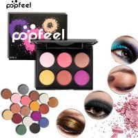 POPFEEl 6 Colors Professional Eyeshadow Palette Waterproof Makeup