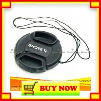 CU946 Lens Cap Tutup Penutup Lensa Kamera 49mm Dengan Logo Sony