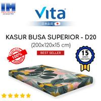 KASUR TIDUR BUSA SUPERIOR DOUBLE 200x120x15 MERK VITA PRODUK ORI INOAC