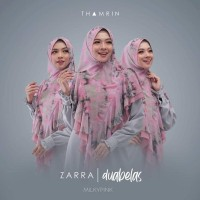 New Sale Jilbab Khimar Zarra Duabelas 12 Thamrin By Qoid Berkualitas