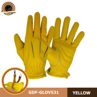 SARUNG TANGAN PRIA RIDING GLOVE KULIT GDF-GLOV531.YEllOW - Kuning, S