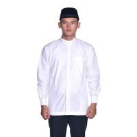 Baju Muslim BHS Classic Motif Single Putih - L