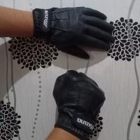 sarung tangan motor mizuno bahan kulit