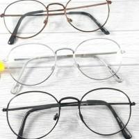 frame oval kacamata korea + lensa supersin