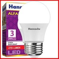 Hannochs Led Bulb Alfa 3 Watt Lampu Led Hannoch Alfa 3W 3 Watt