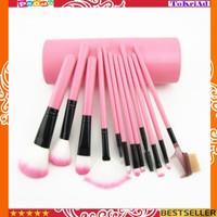 Brush make up C387 kuas make up 12 set in TUBE rias alat kecantikan