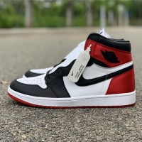 Air Jordan 1 Retro High Satin Black Toe Retail Quality 1:1