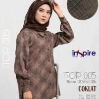 Original INSPIRE TOP ITOP 05 Coklat Tosca Navy Maroon TR Motif 20s