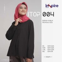Original INSPIRE TOP ITOP 04 ABU TUA COKLAT HITAM MAROON Katun Monoco