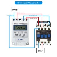 Power Timer Programmable Time Switch Listrik Relay 220V 30A LCD On Off