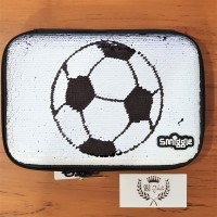 Tempat pensil Smiggle Hardcase waterproof soccer GOAL Sequin Original