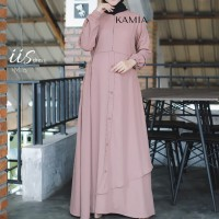IIS DRESS by KAMIA - Gamis polos gamis layer baju muslim busana rempel