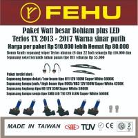 Paket watt besar bohlam plus LED Terios TX 2013 - 2017 sinar putih