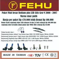 Paket watt besar bohlam plus LED Altis Gen 9 2000 - 2007 sinar putih