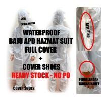 Baju APD + Shoes Cover APD - Baju Hazmat Pelindung Diri - APD SET