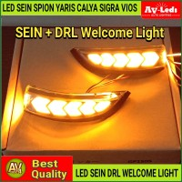 LAMPU LED DRL SEIN SPION - Calya Sigra Yaris Vios - Welcome ceremony