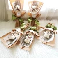 Boneka Bouquet Buket Boneka Kecil Murah Bunga Rangkaian Hadiah Gift