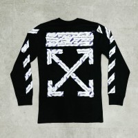 Off White SS20 Airport Tape Long Sleeve Tee - Black