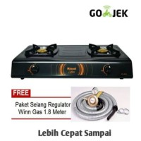 Kompor Rinnai 2 Tungku RI-522 C + Selang paket WIN