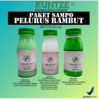 [Paket] Shampo Pelurus Rambut Original Kuntze 3in1 BPOM
