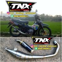 Knalpot Satria 2 Tak Stainless Silencer Motif Carbon TNX Racing