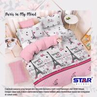 SPREI KATUN STAR UKURAN 180x200x20 MOTIF PARIS IN MY MIND PINK