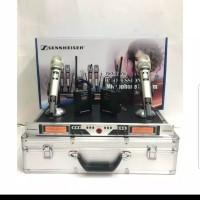MIC WIRELESS SENNHEISER SKM 9004/SKM9004 2MIC PEGANG + 2MIC CLIP ON