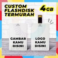 Flashdisk Kartu Custom Print 4GB - Flashdisk Custom Termurah 4GB