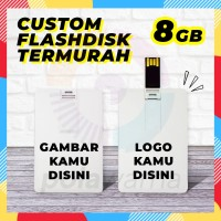 Flashdisk Kartu Custom Print 8GB - Flashdisk Custom Termurah 8GB