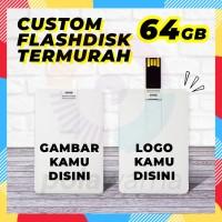 Flashdisk Kartu Custom Print 64GB - Flashdisk Custom Termurah 64GB