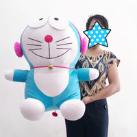 Boneka Doraemon Jumbo - Doraemon Jumbo Headset Pink - Doraemon Jumbo