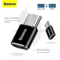 BASEUS Mini Micro USB Female To Usb Type-C Male Adapter Converter